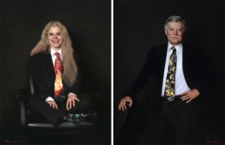 "<h5>Anat & Dick</h5><p>Oil  |  44"" x 34"" each</p>"