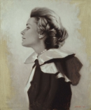 "<h5>First Lady</h5><p>Oil  |  28"" x 23""</p>"