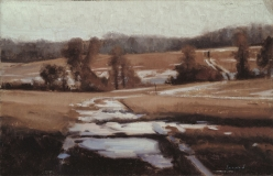 "<h5>Cossart Road, Winter </h5><p>Oil  |  10"" x 16""</p>"