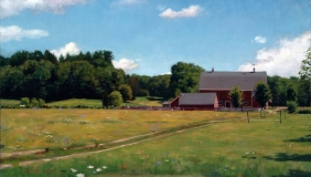 "<h5>Hunnewell Farm</h5><p>Oil  |  18"" x 35""</p>"