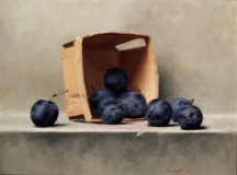 """<h5>Plums and Basket</h5><p>Oil  